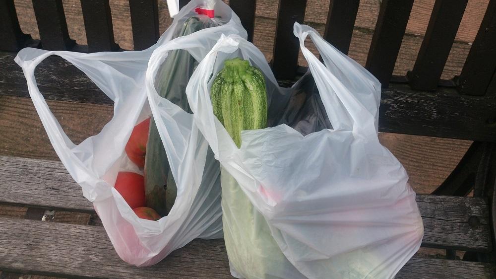 スーパーの袋