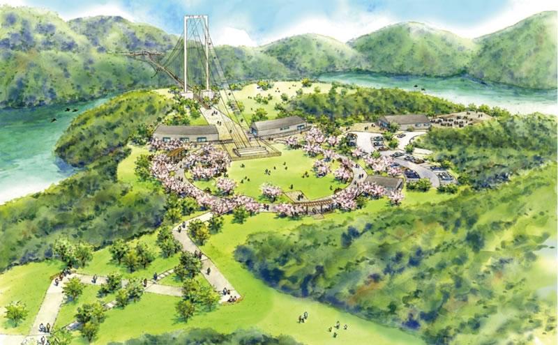 安威川ダム周辺完成図